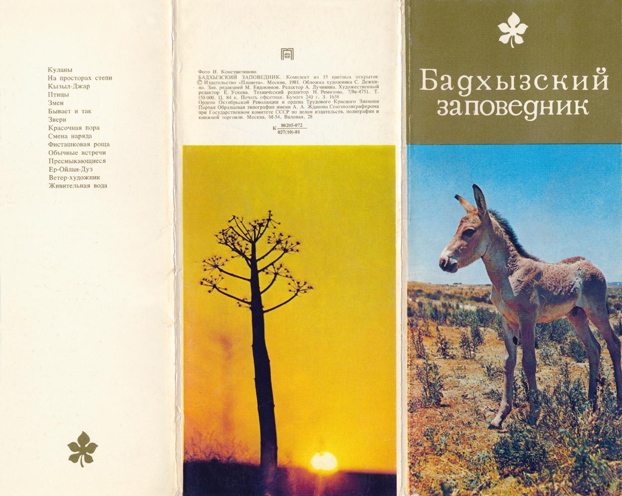 Бадхызский заповедник